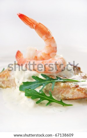 prawn appetizer - stock photo