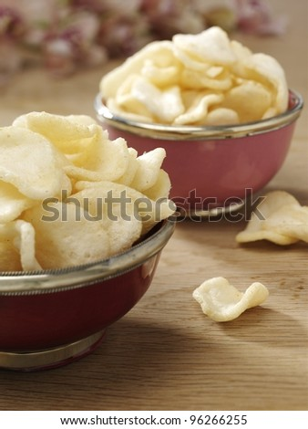 Prawn crackers - stock photo