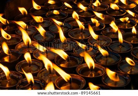 Prayer lamps - stock photo