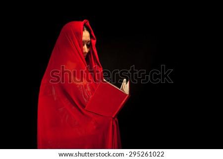 Prayer Woman - stock photo