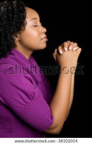 Praying Black Woman