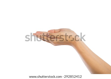 Praying Hands Isolated on white background.