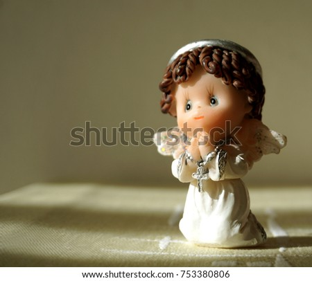 Praying vintage ceramic angel
