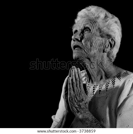 Praying Woman Looking up to the Lord