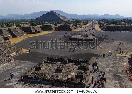 Pre-Hispanic City of Teotihuacan, UNESCO World Heritage Site, Mexico - stock photo