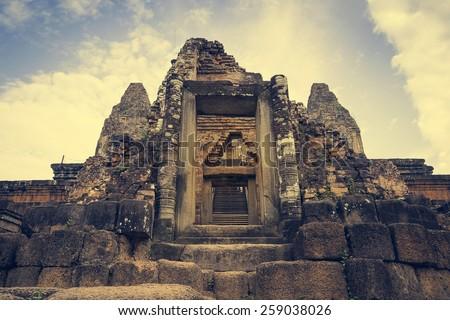 Pre Rup Temple in Siem Reap, Cambodia - stock photo
