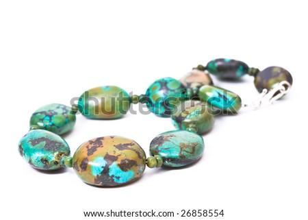 Precious Stone Turquoise Necklace - stock photo