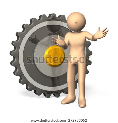 precision machinery,introduction,isolated,computer generated image - stock photo