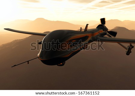 Predator MQ1 Type Drone - stock photo