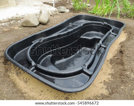 Dug stock images royalty free images vectors shutterstock Preformed plastic pond