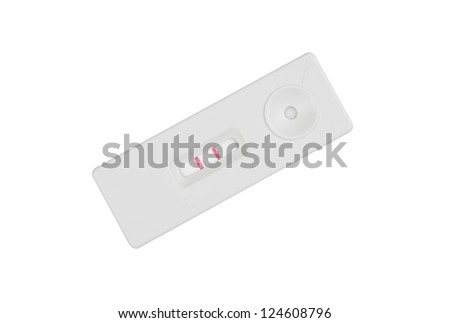 pregnancy test on white background, isolate - stock photo