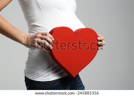 pregnant,maternity - stock photo