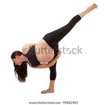 pregnant woman in a yoga pose