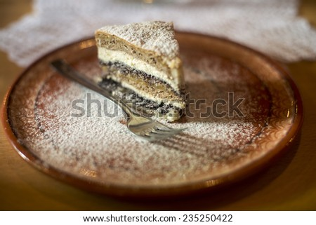 Prekmurska gibanica - Slovene traditional pie - stock photo
