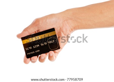 Premier Gold Status Credit Card - stock photo