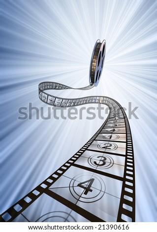 Premiere countdown! 3d rendering. - stock photo