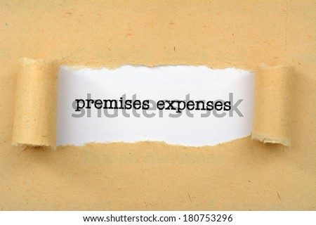 Premises expenses - stock photo
