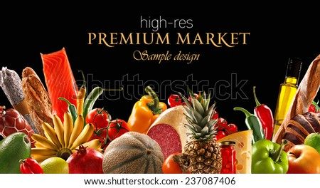Premium foods market - stock photo