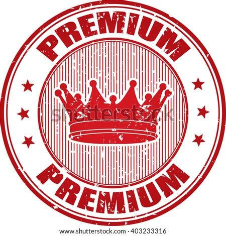 Premium grunge stamp. - stock photo