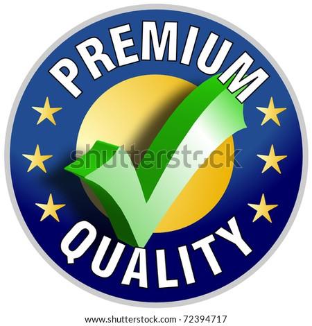 Premium Quality Button/Label - stock photo
