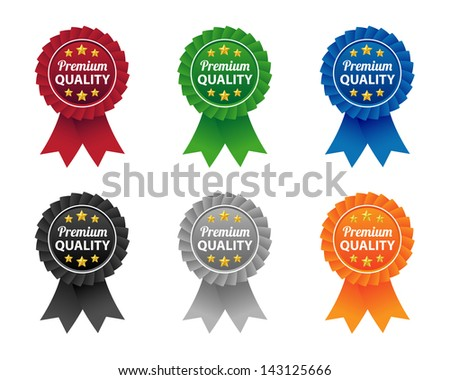 Premium quality labels. Vector available. - stock photo
