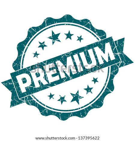 premium stamp - stock photo