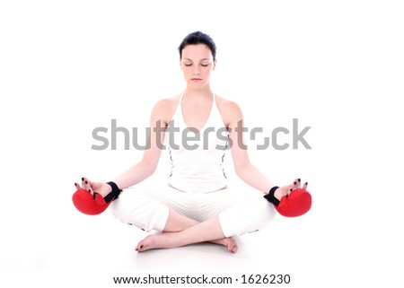 preparation for next fight - stock photo