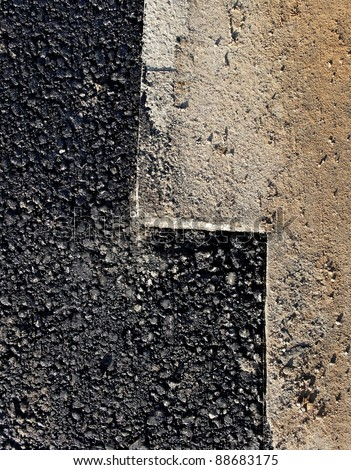 Preparation for road repair, vertical photo.