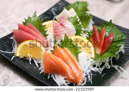 prepared and delicious sushi sashimi