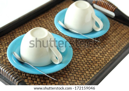 prepares coffee cup - stock photo