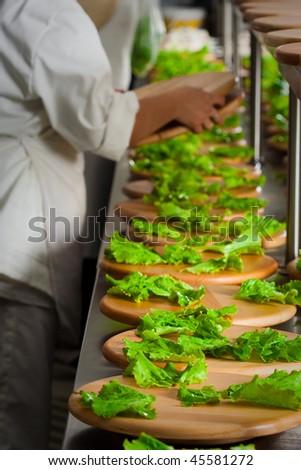 Preparing catering food - stock photo