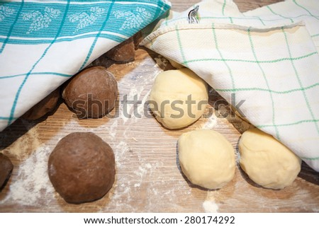 Preparing Cocoa Pastry Rolls - stock photo