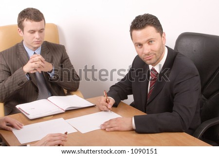 preparing contract to sign - stock photo