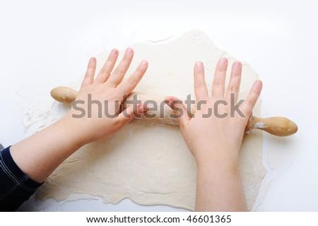 Preparing food, baking - stock photo