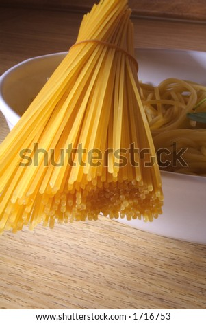 Preparing food - italian pasta - stock photo