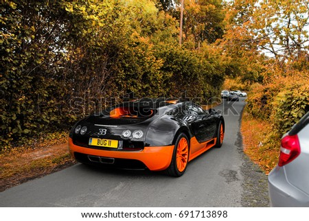 Prescott, England   03.06.17: Bugatti Veyron Super Sport WRE Leaving A Speed