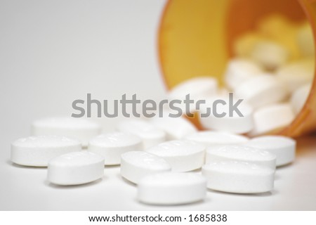 Prescription Drugs and Pill Bottle