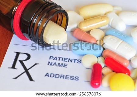 Prescription pills - stock photo