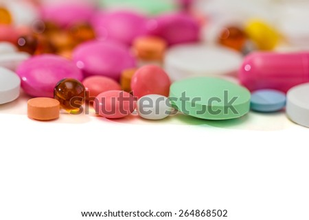 Prescription Pills and Medicine Medication Drugs - stock photo