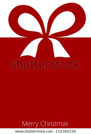 Present with red ribbon bow - stock photo