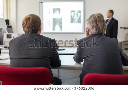 Presentation at university - stock photo