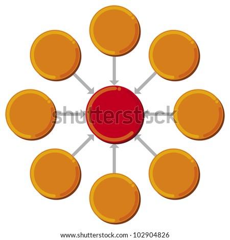 presentation diagram (business process, marketing) - stock photo