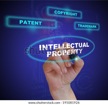 Presentation of protection of intellectual property - stock photo