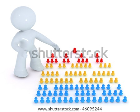 Presenting  the org chart - stock photo