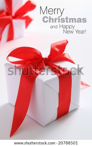 Presents (easy to remove the text) - stock photo
