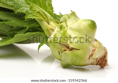 preserved mustard on white background
