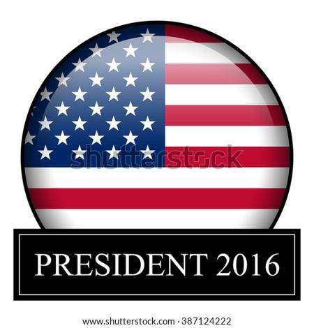 President 2016 badge - stock photo