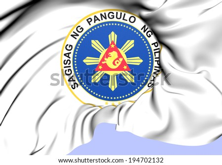 President of Philippines Seal. Close Up.