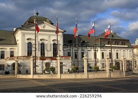 President Palace in Bratislava. It is known also as Grassalkovich Palace. - stock photo