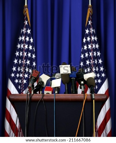 President Speech Podium - stock photo